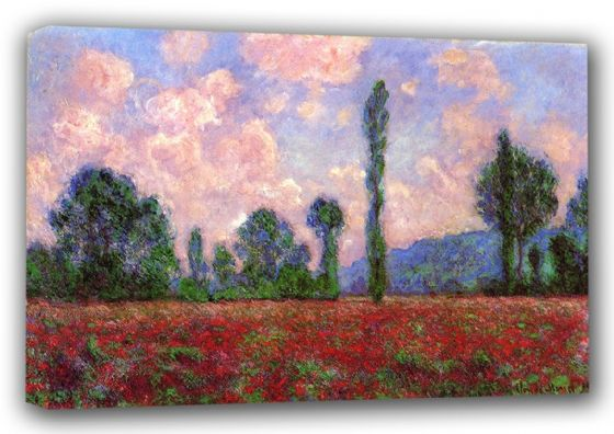 Monet, Claude: Landscape of Vernon. Fine Art Canvas. Sizes: A3/A2/A1 (00765)